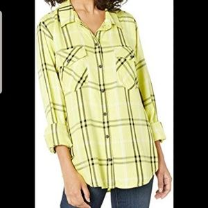 Sanctuary Boyfriend Plaid Shirt *Medium